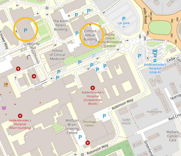 Map of Cambridge Biomedical Campus